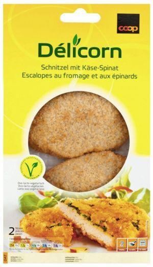 Vegetarisches Schnitzel Käse/Spinat