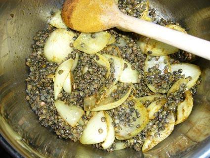 Lentilles au miel